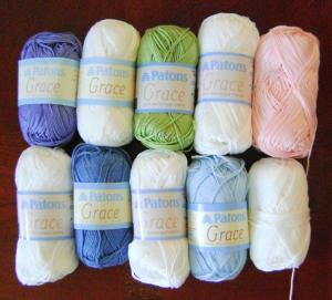 New yarn for the Mitered Square Blanket
